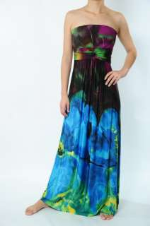 NWT Just Cavalli Ladys Colourful Printed Big Flower Long Maxi Dresses