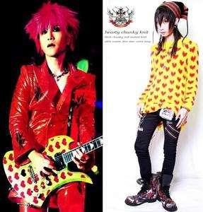 VISUAL KEI Punk X Japan HIDE HEART GUITAR KNIT SWEATER