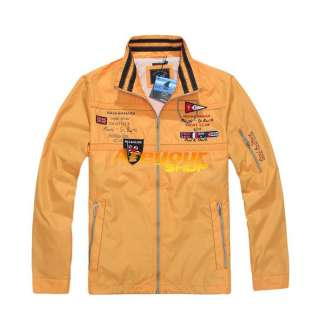 NWT P&S Bruce Shark Mens Long Sleeve Coats Jacket Sz:M XXL Blue Orange