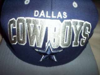 VINTAGE THROWBACK DALLAS COWBOYS SEWN SNAPBACK HAT, ONE SIZE