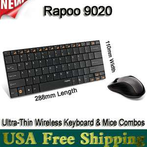 Rapoo 9020 Ultra thin Wireless Keyboard & Mouse/Mice Bundles+Nano USB
