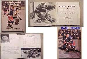 1968 69 NEW YORK RANGERS BLUE BOOK ICE HOCKEY OFFICIAL GUIDE RECORDS