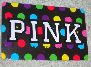 VICTORIA SECRET GIFT CARD NO CASH VALUE PINK POLKA DOTS COLLECTIBLE