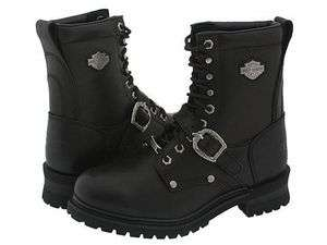 Mens Harley Davidson Faded Glory Black 8 Logger Motorcycle Boots