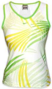 New Nike Women Dry Fit Tennis Tank Top White/Green/Yel