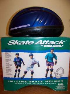 SKATE ATTACK roller blade in line bike helmet EUC XS/S