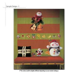 Snowman & Santa Claus X mas Decorative Wall Art Sticker