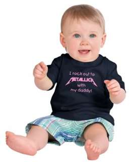 Rock to Metallica With Daddy Childs T Shirt 6mos   4T