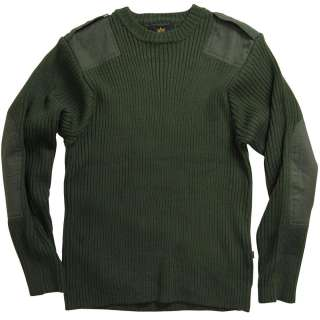 ALPHA INDUSTRIES COMMANDO SWEATER OLIVE AND BLACK ARMY |