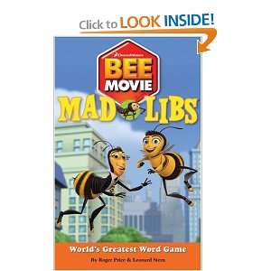 Bee Movie Mad Libs (9780843126754): Richard Price, Leonard
