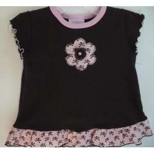Too Sweet Baby Girl Clothes Chocolate Brown Pink Flower & Skull Print