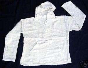 Natural Cotton BAJA shirt Hoodie Pullover Jacket S 2XL