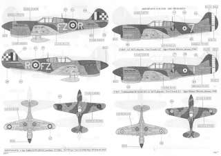 Sky Models Decals 1/48 CURTISS P 40 WARHAWK Fighter