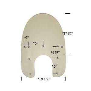 Memphis Shades 19 Replacement Windshield For Harley