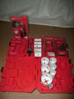 MILWAUKEE TOOL KITS HOLE SAW SET WORK LIGHT BITS ETC