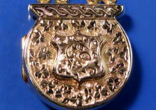 ANTIQUE VICTORIAN GOLD RARE PADLOCK SWEETHEART LOCKET PENDANT