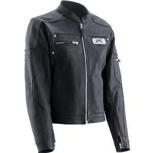 Z1R Burlesque Womens Leather Motorcycle Jacket Black
