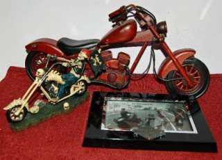 HARLEY DAVIDSON FRAME and MOTORCYCLE MODELS LOT#224