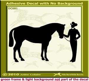 Showmanship Halter Horse Trailer Auto Decal Sticker 681