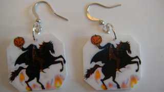 Headless Horseman Earrings halloween spooky jewelry