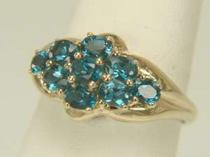 10k Yellow Gold 1.80ct Oval London Blue Topaz Ring