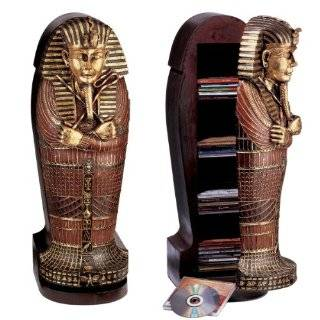 King Tut Egyptian Life Size Sarcophagus Cabinet Decoration new (The