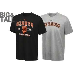 San Francisco Giants Big & Tall Black/Grey 2 T Shirt Combo