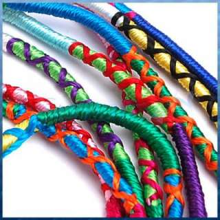 Bulk 9pcs Multi Color Thread Braided FRIENDSHIP Bracelets Hippie