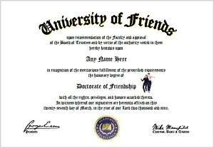 Friendship Diploma   Friend Lover Diploma