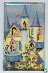 Disney Princess Collage Light Switch Plate Cover NEW