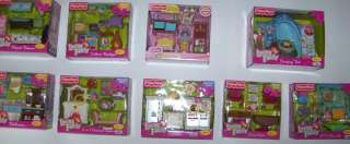Fisher Price LOVING FAMILY Dollhouse Furniture 9+ Styles/Rooms Outdoor