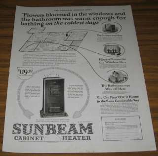 1924 AD~SUNBEAM CABINET HEATERS~FOX FURNACE~ELYRIA,OHIO