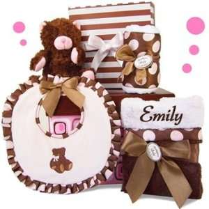 Personalized Park Avenue Posh Baby Girl Gift Set   5
