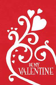 9964FL   Large Flag   Be My Valentine applique for Valentines Day