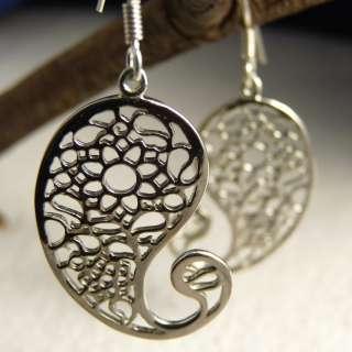 Sterling Silver Beautiful ~SilverSari JALI PAISLEY~ Earrings