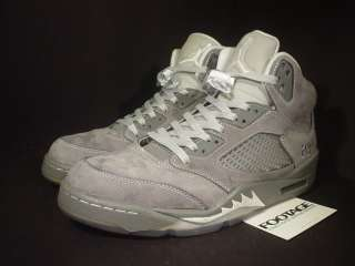 2011 Nike Air Jordan V 5 Retro LIGHT GRAPHITE WHITE WOLF GREY SILVER
