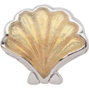 Persona Sterling Silver Golden Sea Shell Charm fits Pandora, Troll