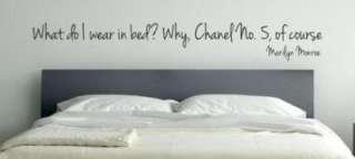 sticker wall art   WEAR IN BED Marilyn Monroe   4 tall x 31 long