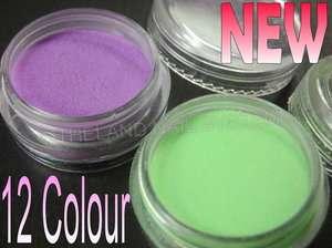 12 Colors Nail Art Acrylic Powder Builder