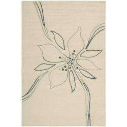 Cambria Beige/ Green/ Blue Floral Rug (8 x 10)