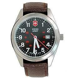 Swiss Army Mens Garrison Calfskin Strap Watch