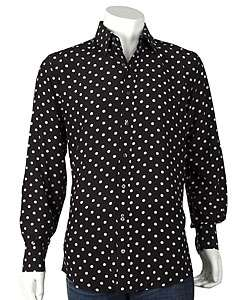 Dolce & Gabbana Black/White Dots Silk Shirt