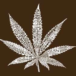 Los Angeles Pop Art Mens Marijuana Leaf T shirt