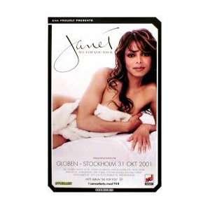 JANET JACKSON Stockholm Sweden   31st October 2001 Music