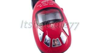 Car  Player SD MMC Slot FM Transmitter Remote Red