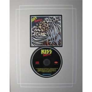 Mark St John Kiss Autograph Signed Animalize CD Cover Matted with CD