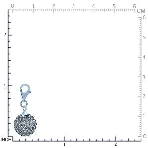 Nagara Crystal Ball 925 Sterling Silver Dangle Charm