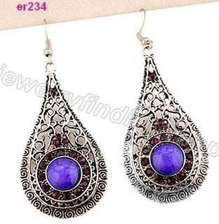 nice Tibetan Silver exquisite Crystal Beaded dangle Earring er233 236