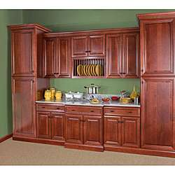 Cherry Stain/Chocolate Glaze Wall Blind Corner Kitchen Cabinet (30x24