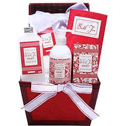 Red Holiday Spa Gift Basket